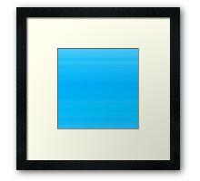 Tiffany Blue Stripes Framed Print
