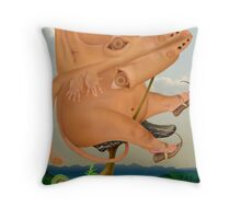 Hare, the cyclist Throw Pillow
