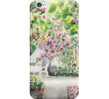 Roses in  a Swedish Courtyard iPhone Case/Skin