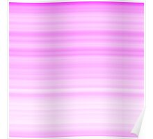 Pink-White Stripes Poster