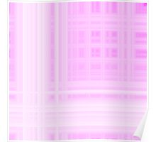 Pink-White Plaid Poster