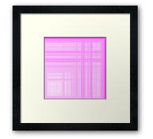 Pink-White Plaid Framed Print