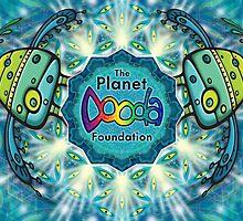 The Planet Dooda Foundation Logo with Love Birds by Dooda Creations