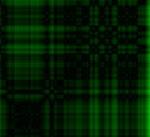 246. Gothic Green-Black Plaid by FireFairy