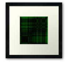 Gothic Green-Black Plaid Framed Print
