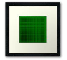 Green Plaid Framed Print