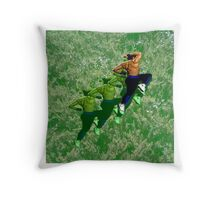 Caged! Throw Pillow