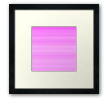 Pink Stripes Framed Print