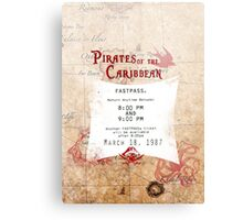 Pirates of the Caribbean- Fastpass Metal Print