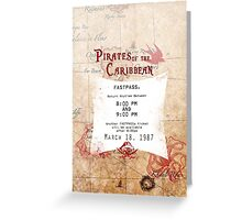 Pirates of the Caribbean- Fastpass Greeting Card
