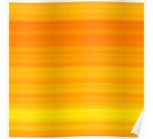 Summer Orange-Yellow Stripes Poster