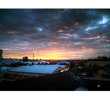 A Glasgow sunset in march Photographic Print