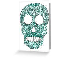 Green skull Greeting Card