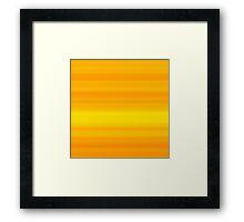 Orange-Yellow Stripes Framed Print