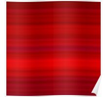 Deep Red Stripes Poster