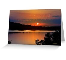 Calm Sunrise Landscape Greeting Card