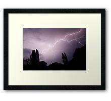 Lightning show over Tumut  Framed Print