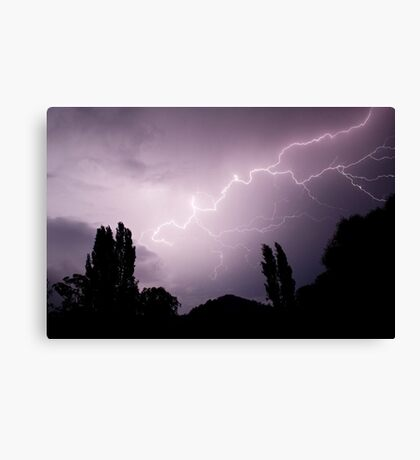 Lightning show over Tumut  Canvas Print