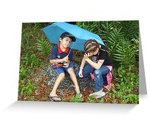 Disappointed with the Rain on Tropical Island Cruise. Greeting Card