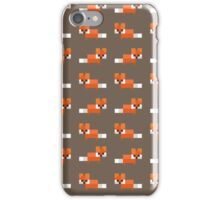 Pixel Foxes Pattern iPhone Case/Skin