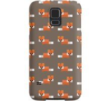 Pixel Foxes Pattern Samsung Galaxy Case/Skin