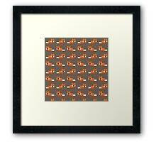Pixel Foxes Pattern Framed Print