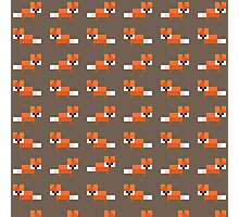 Pixel Foxes Pattern Photographic Print