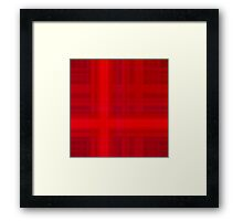 Red Plaid Framed Print