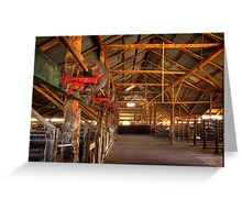The inside - Woolshed Lake Mungo Greeting Card