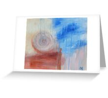 I am earth sky rain. Greeting Card