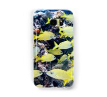 Yellow Caribbean Reef Fish on a Bahamas Reef Samsung Galaxy Case/Skin