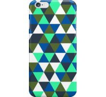 Blue and Green Triangular Spectacular iPhone Case/Skin