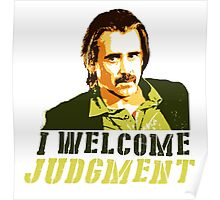 I welcome judgment Poster