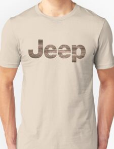 Wooden rustic Jeep letters T-Shirt