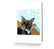 Baby is Black and White Greeting Card