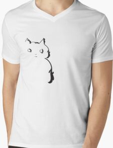 This cat doesn't trust anybody Mens V-Neck T-Shirt
