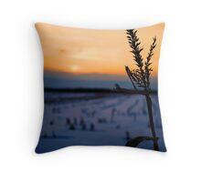 Cornfield Silhouette Throw Pillow