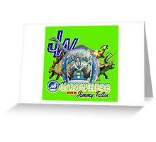 JW Gyrosphere w Jimmy + dilopho spit Greeting Card