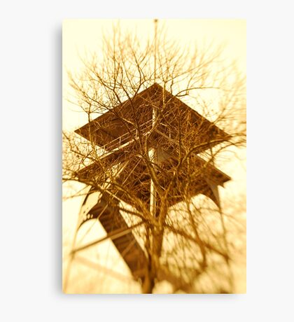 Battlefield tower Canvas Print