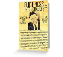 Elliot Ness  Greeting Card