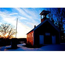 Old Red Schoolhouse Photographic Print