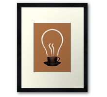 The power of coffee Framed Print