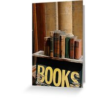 Old bookstore, Oxford, England Greeting Card