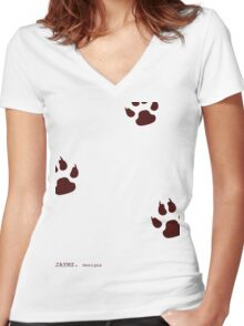 Following the fence Women's Fitted V-Neck T-Shirt