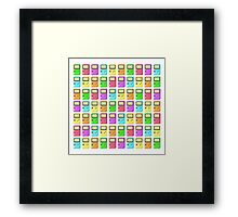 Game Boy Color Pixel Art Framed Print