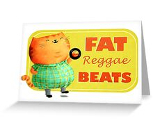 Fatty Fatty Fat Reggae Cat Greeting Card