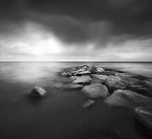 Rain over Lake Simcoe by Steve Silverman