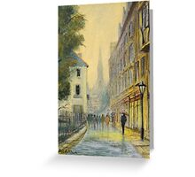 Rainy Day In Oxford England Greeting Card