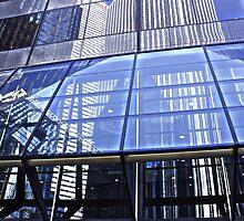 Steel Window Reflections by PPPhotoArt