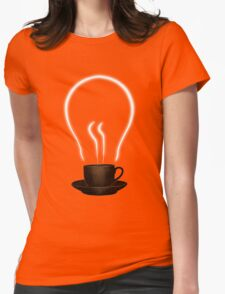 The power of coffee Womens Fitted T-Shirt